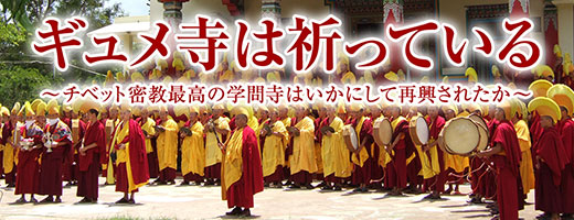 Monks at Gyudmed Pray World People's Peace in Mind and Heart